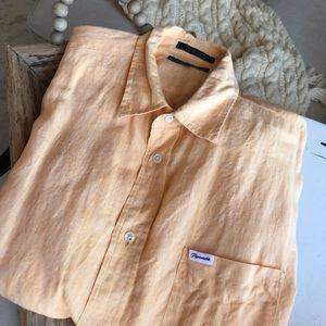 Faconnable ,XLT 100 % Linen, button down shirt,